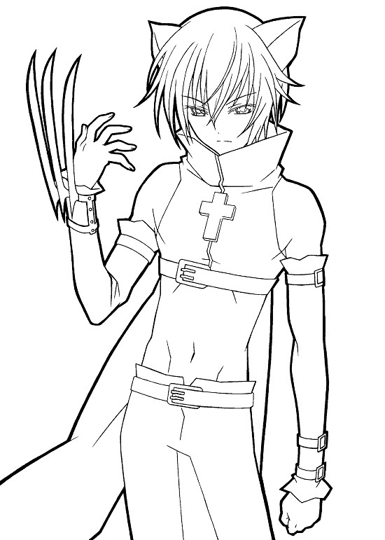 Printable Anime Coloring Pages Coloring Me Anime And Boy Coloring Pages Free