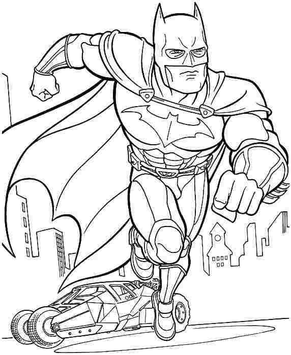 coloring pages batman printable template - photo#28