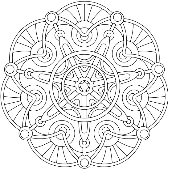 Printable Geometric Coloring Pages | Coloring Me
