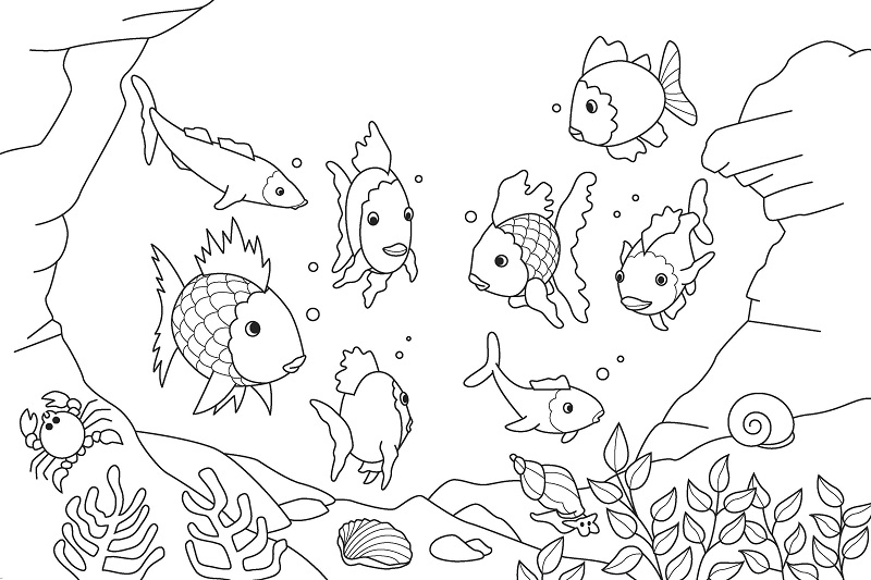 printable fish coloring pages | coloring me - Aquarium Coloring Pages Printable