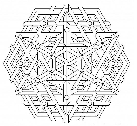 Printable Geometric Coloring Pages ColoringMe.com