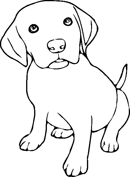 free printable puppy coloring pages