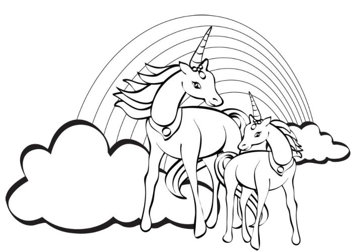 printable unicorn coloring pages coloring me