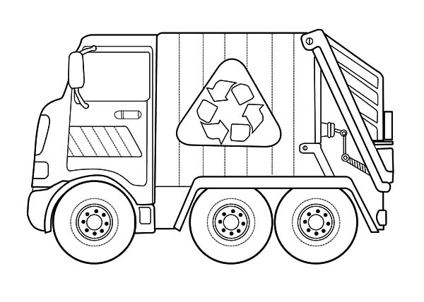 Trash truck couloring in free coloring pages for Free truck coloring pages