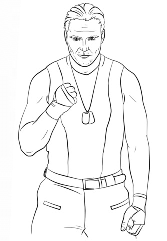 Printable Wwe Coloring Pages Coloringme Com