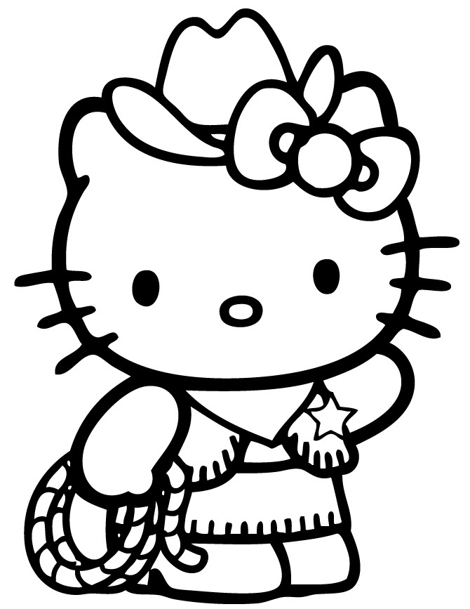 Printable Hello Kitty Coloring Pages Coloringme Com
