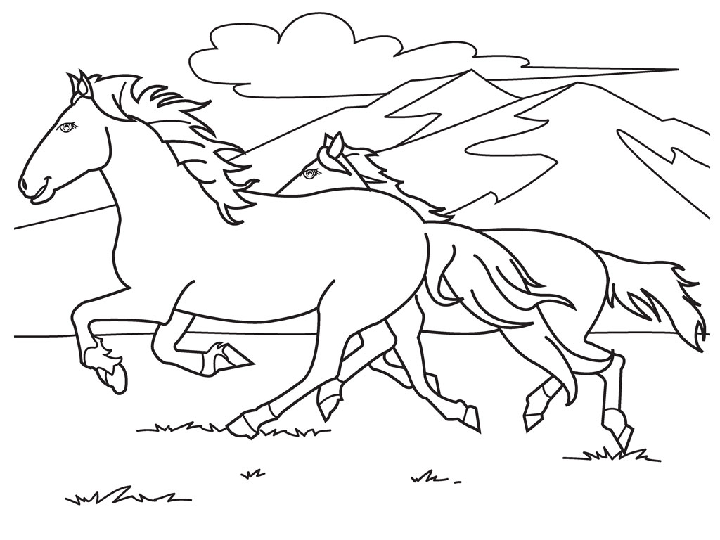 Printable Horse Coloring Pages | Coloring Me