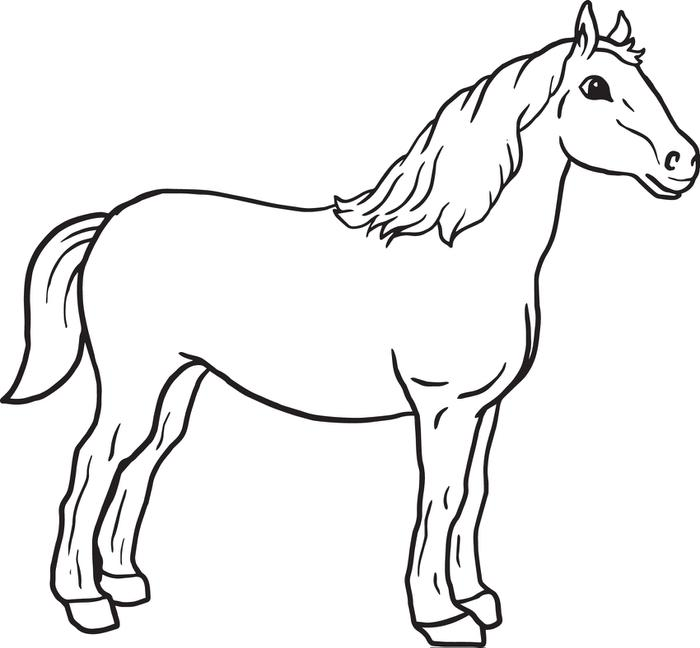 coloring book pages of horses - photo#20