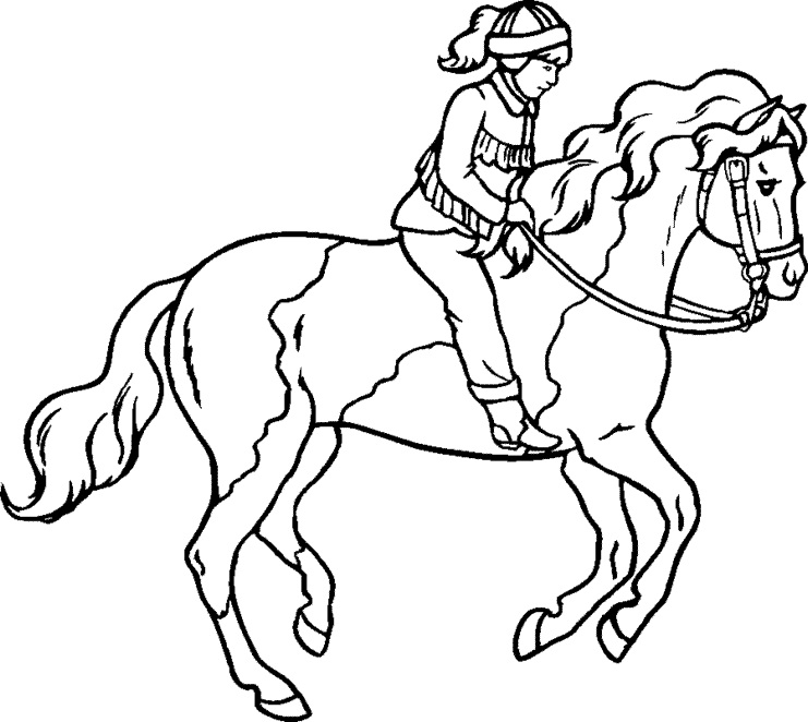 horse coloring pages free - Free Horse Coloring Pages