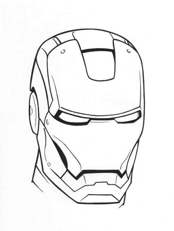Head Of Iron Man Coloring PagesOfPrintable Coloring Pages Free