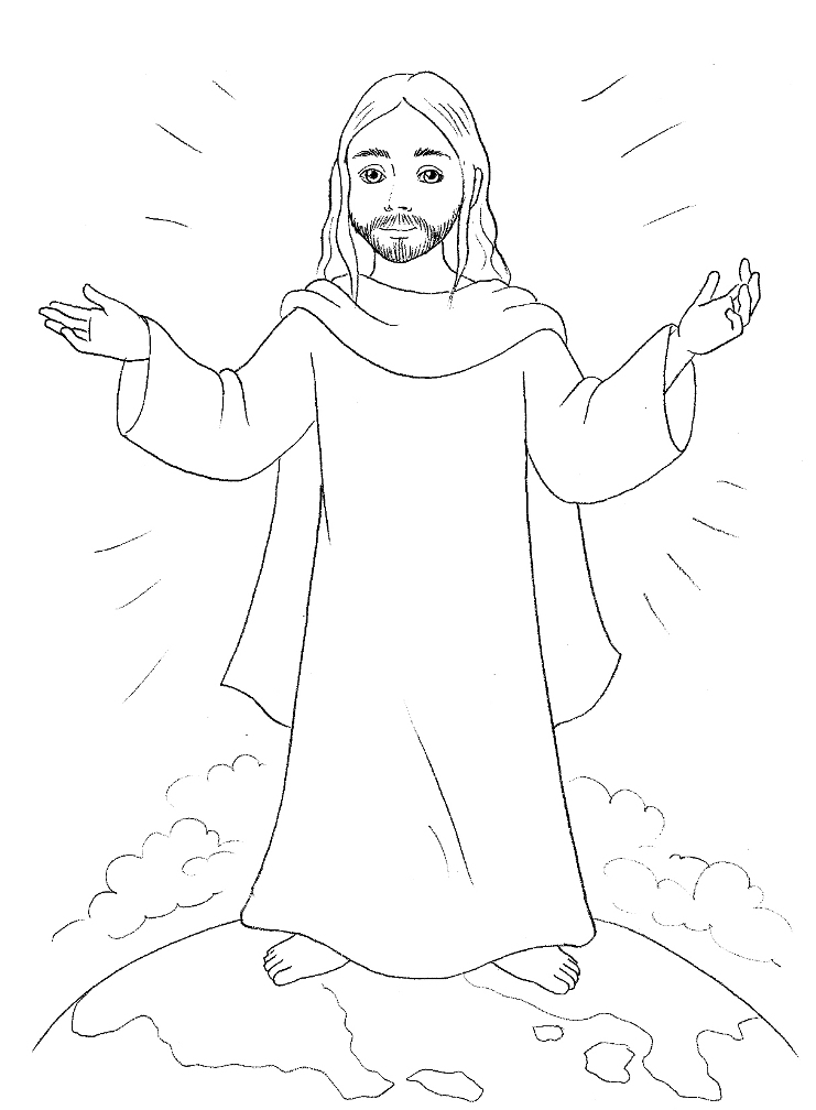 Printable Jesus Coloring Pages Coloring Me Coloring Page Jesus