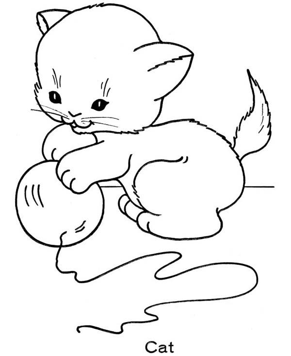 kitty kat coloring pages - photo#6