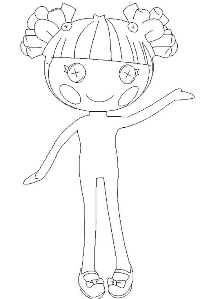Printable Lalaloopsy Coloring Pages Coloringme Com