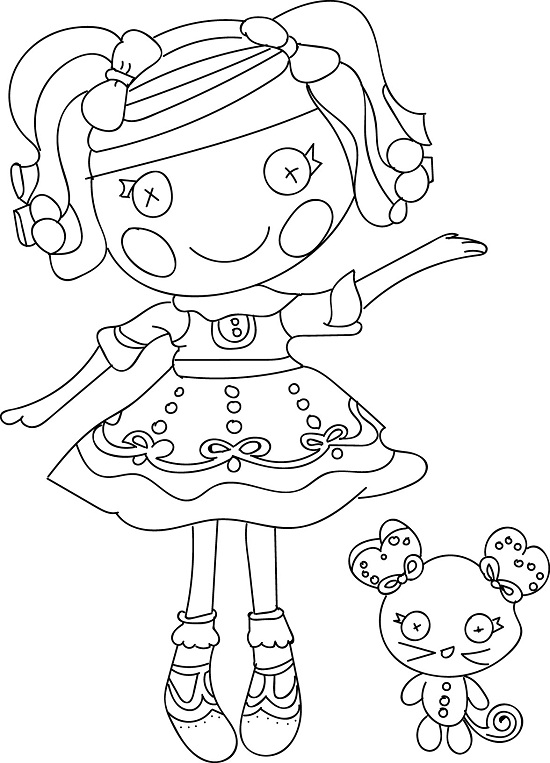 lalaloopsy coloring sheets - Lalaloopsy Coloring Pages Mittens