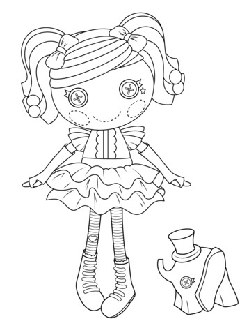 Baby Lalaloopsy Coloring Pages Printable | 480x358
