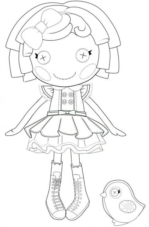 lalaloopsy coloring sheets - Lalaloopsy Coloring Pages