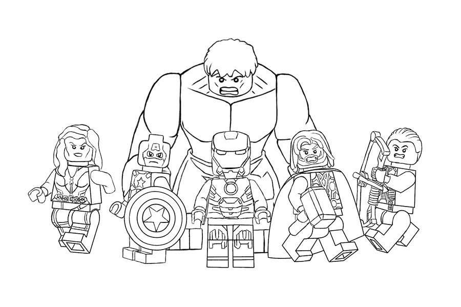 Printable Avengers Coloring Pages