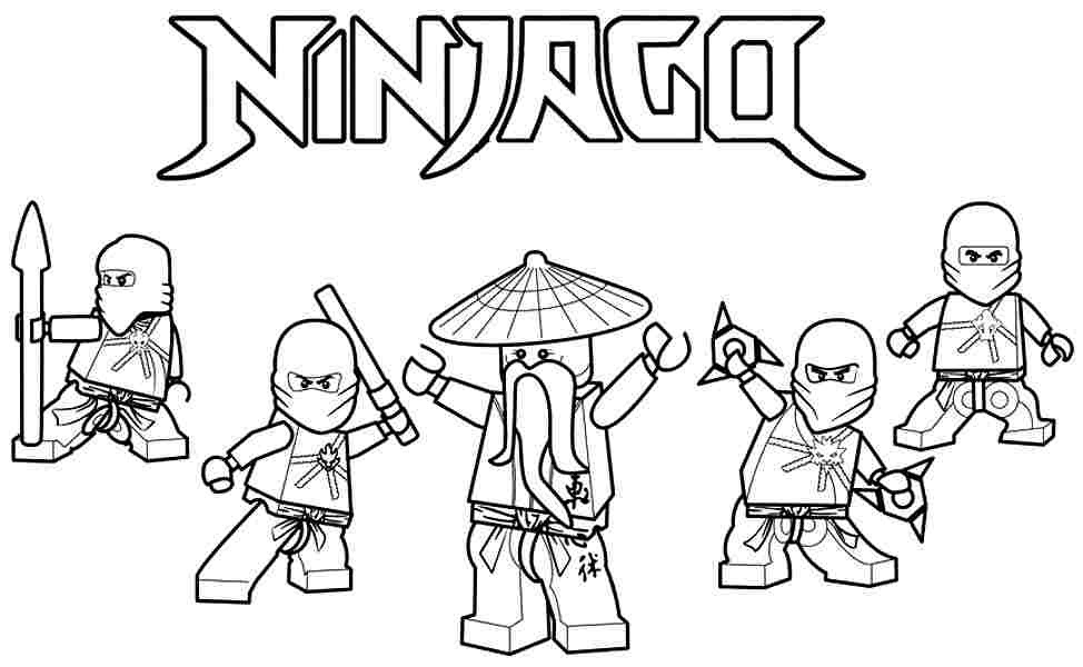 ninjago coloring sheets - Cartoon Coloring Pages Printables