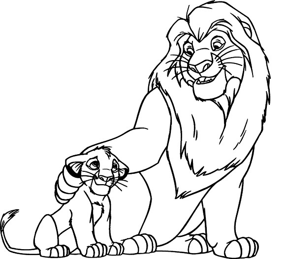 Colouring In Sheets Lion King : Printable lion king coloring pages me