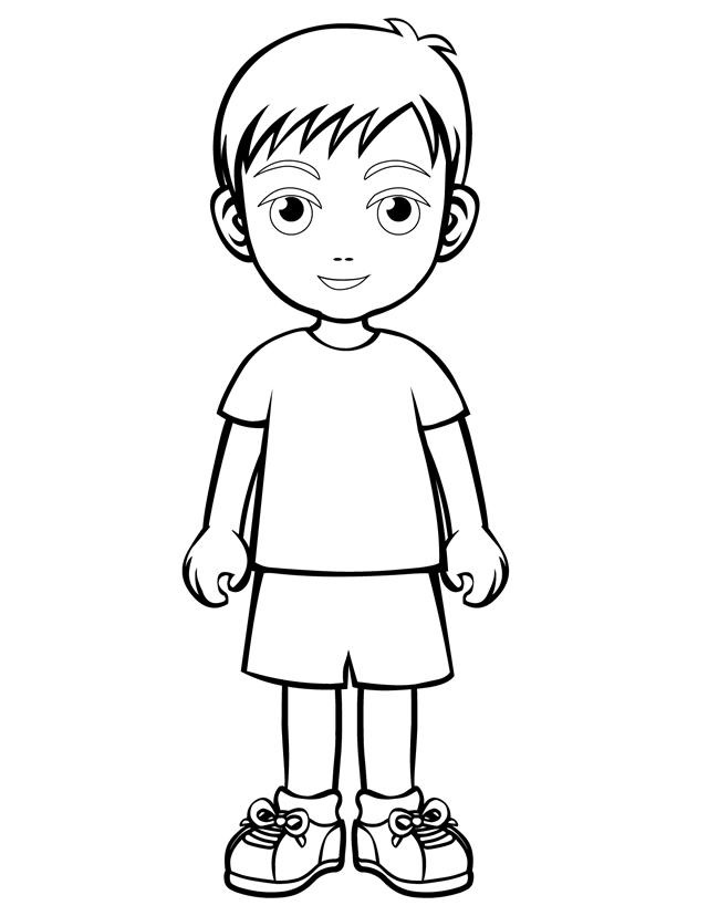 a boy coloring pages - photo #3