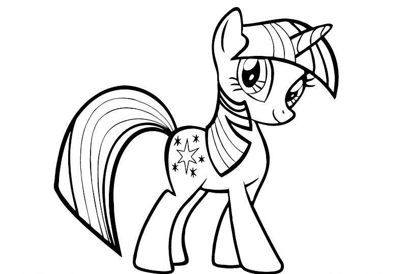 Gallery Of A Twilight Sparkle My Little Pony Coloring Pages