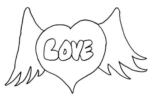 Coloring Page Love Quoteko