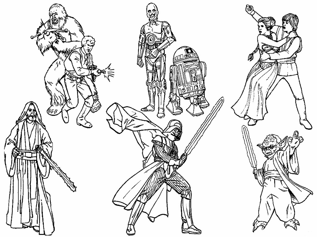 Printable Star Wars Coloring Pages Me