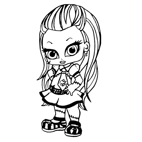 Printable Monster High Coloring Pages Coloring Me High Baby Coloring Pages