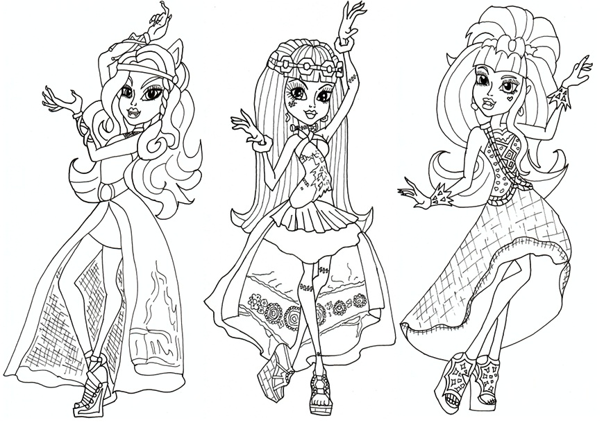 Monster High Coloring Sheets