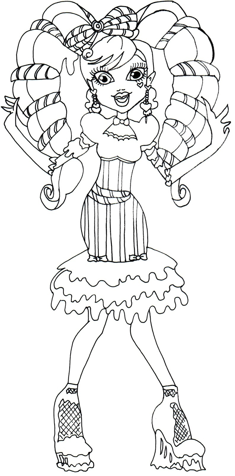 Printable Monster High Coloring Pages Coloring Me High Coloring Pages Print