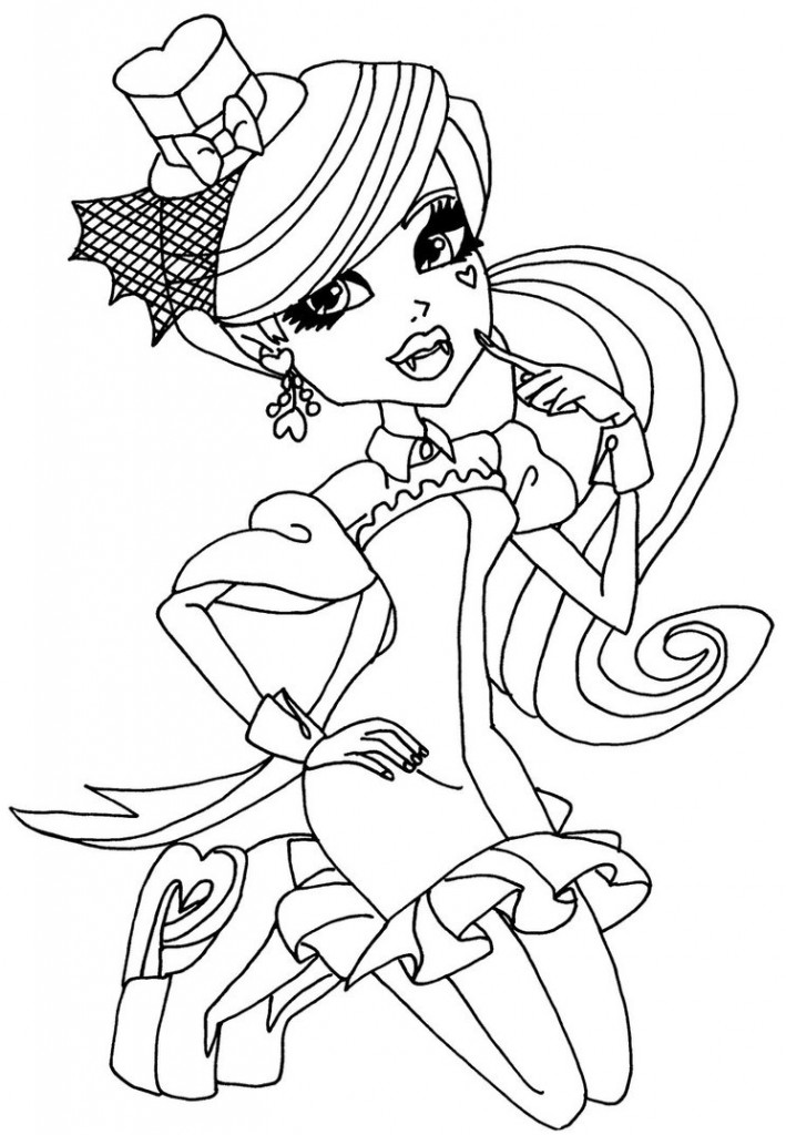 Printable Monster High Coloring Pages Coloring Me