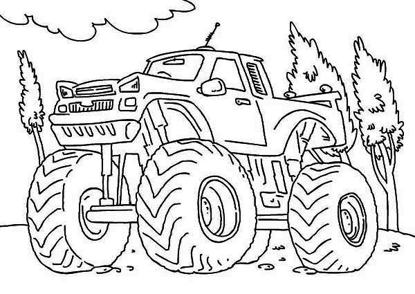 printable monster truck coloring pages me - Monster Truck Mater Coloring Page