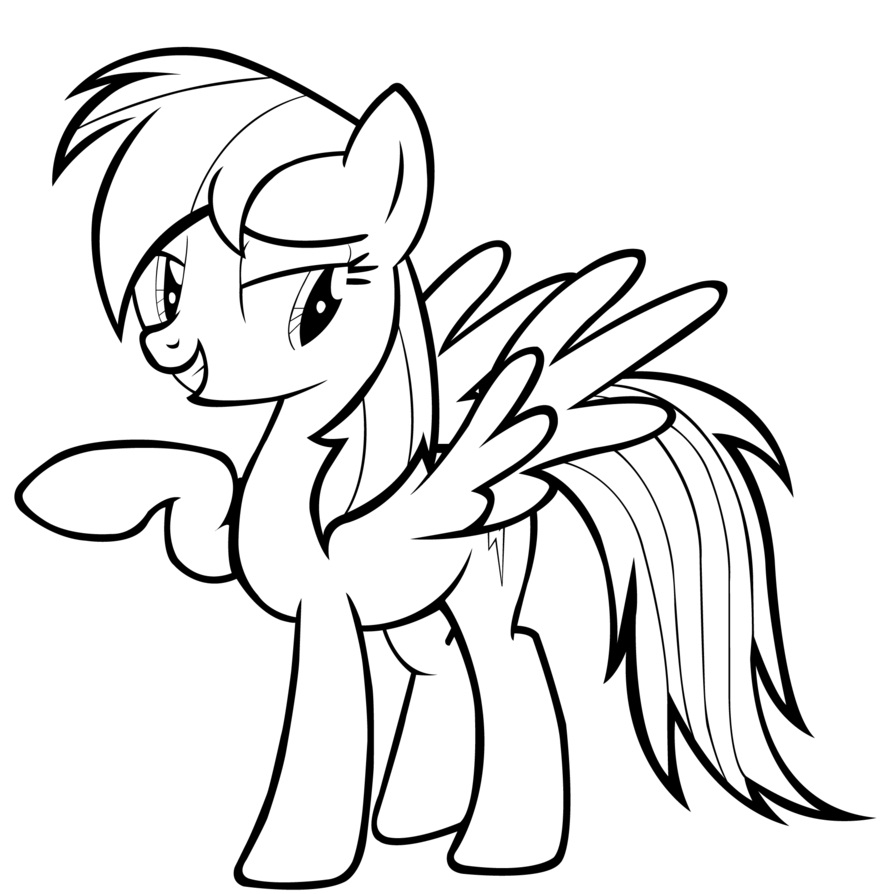 Young my little pony coloring pages - My Little Pony Coloring Pages Rainbow Dash