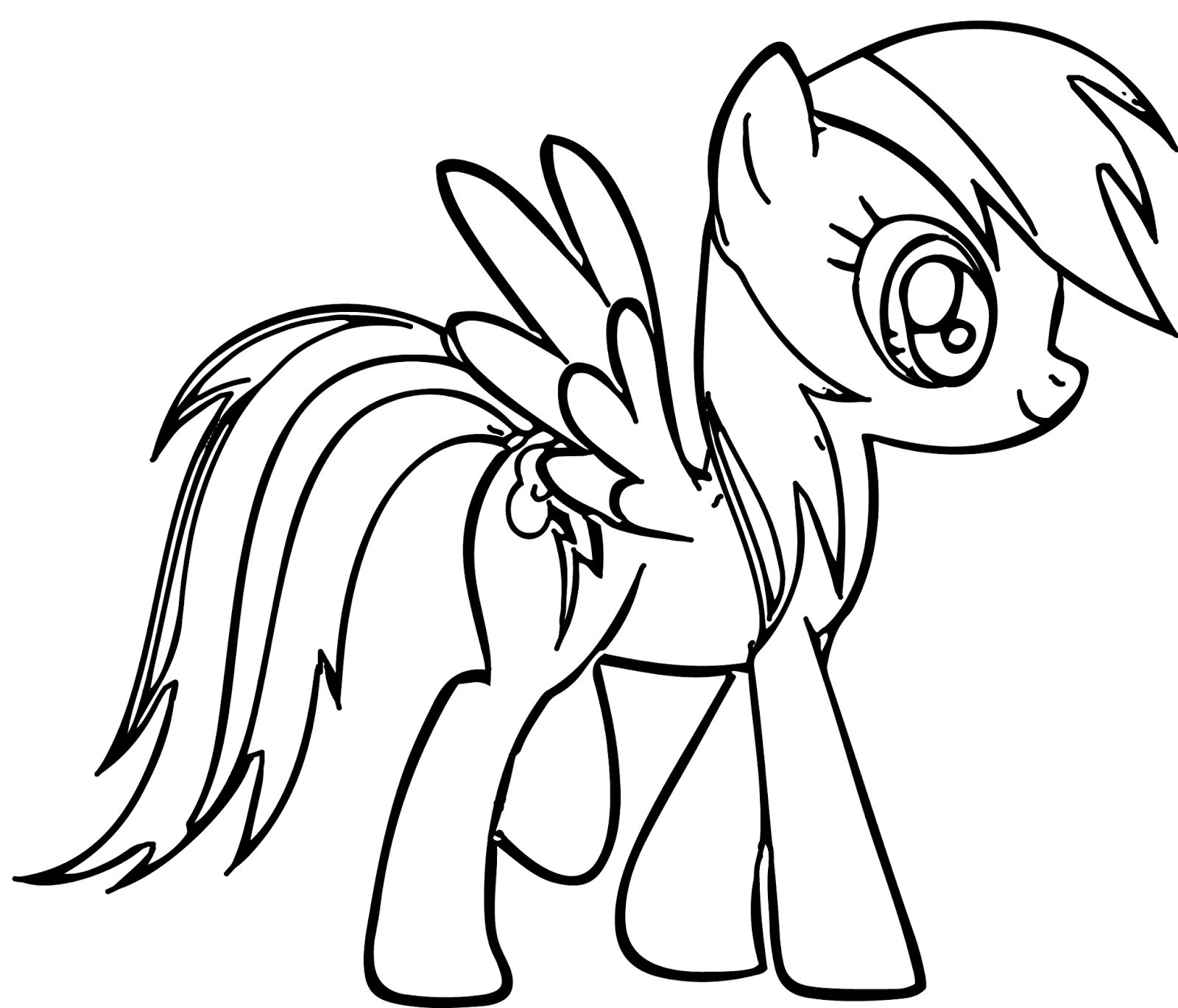 My Little Pony Rainbow Dash Coloring Pages Coloring Me