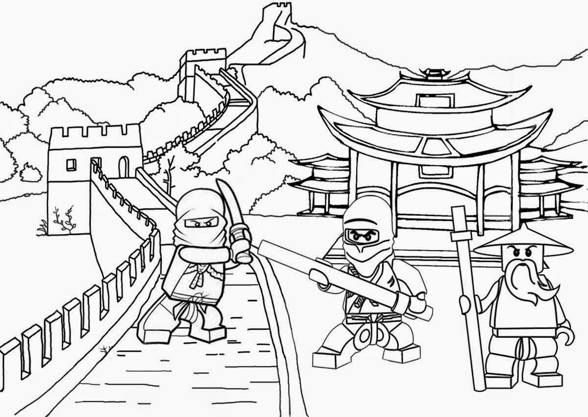 Ninjago Colouring Pages Free Coloring Page