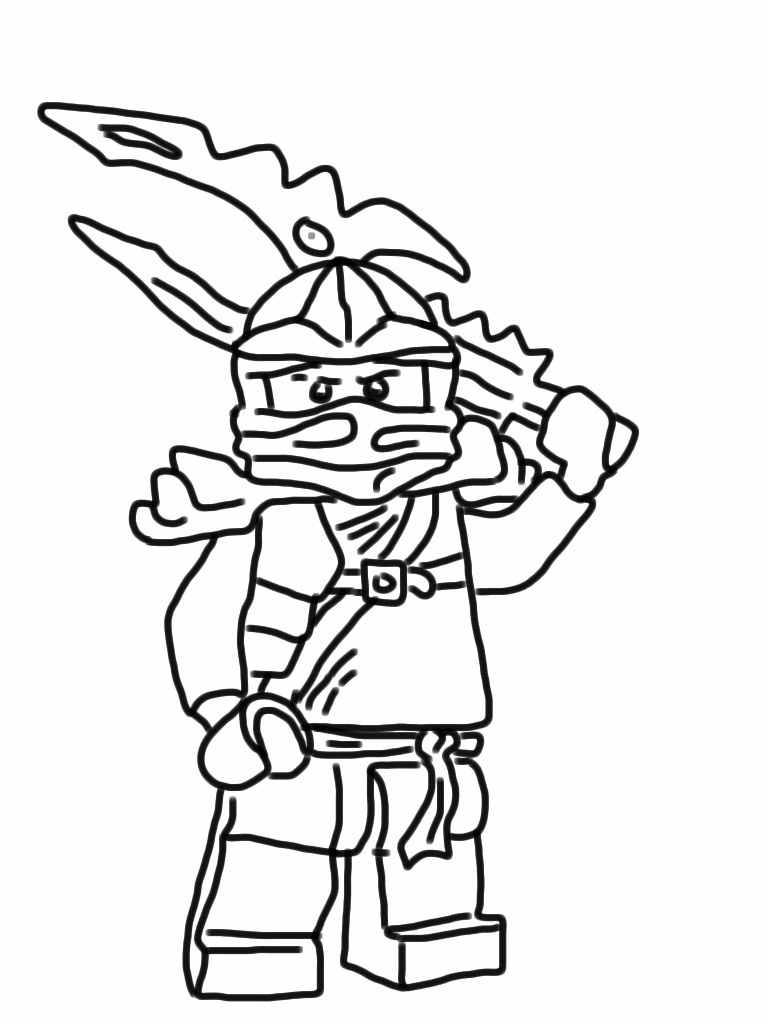 Ninjago Jay Coloring Pages Miakenasnet