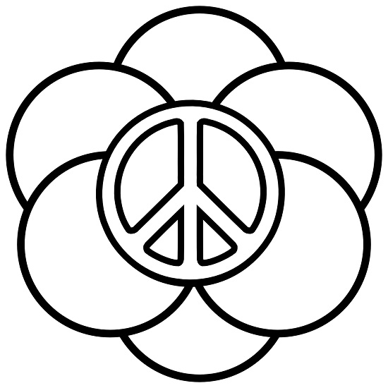 Printable Peace Sign Coloring Pages  Coloring Me