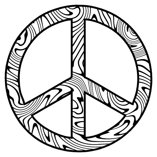 Peace Symbol Coloring Pages