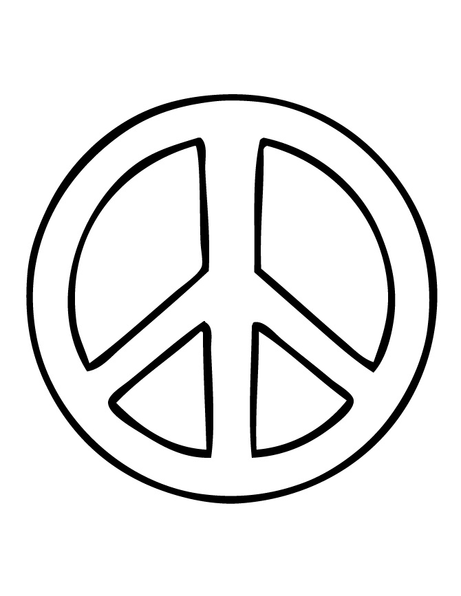 Adaptable image intended for printable peace signs