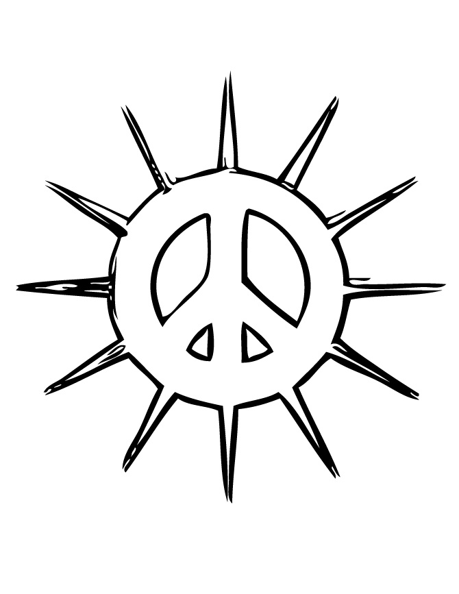 Printable Peace Sign Coloring Pages | Coloring Me