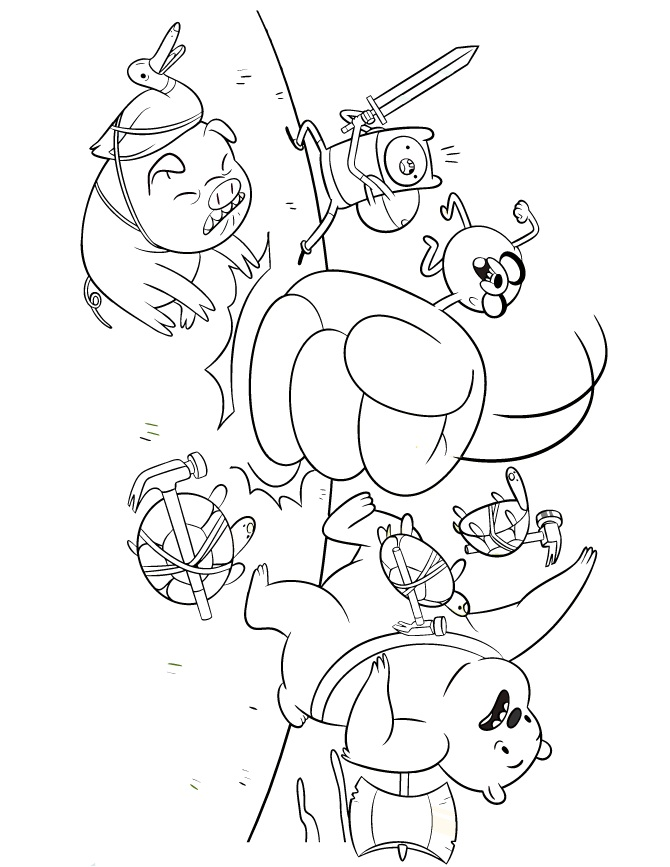 adventure time coloring book pages - photo#15