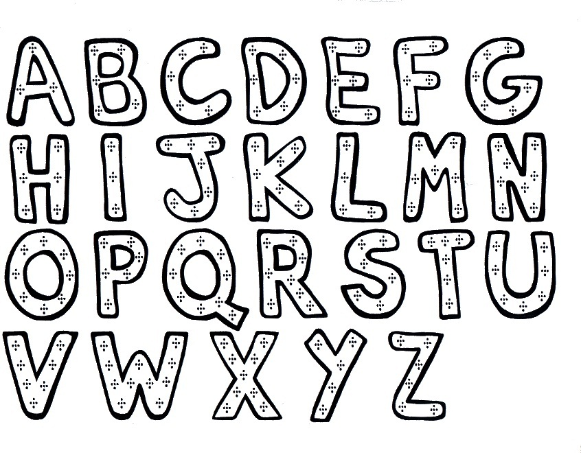 alphabet coloring sheets - Alphabet Coloring Pages