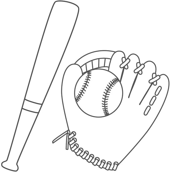 printable baseball coloring pages