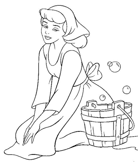 printable cinderella coloring pages - Cinderella Coloring Pages Print
