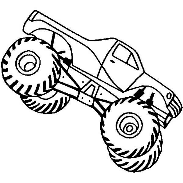 excellent printable monster truck coloring pages with