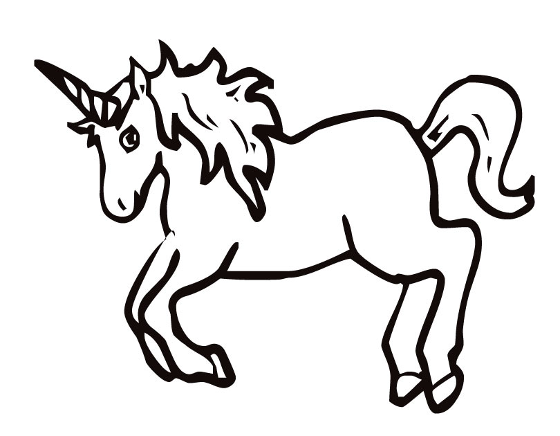 unicorn printable coloring pages - photo#5