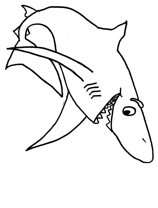 33 Free Shark Coloring Pages Printable | 725x550