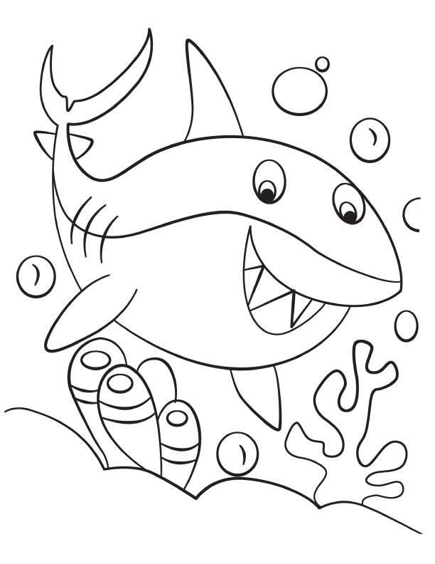 Shark Coloring Sheets Bull Pages