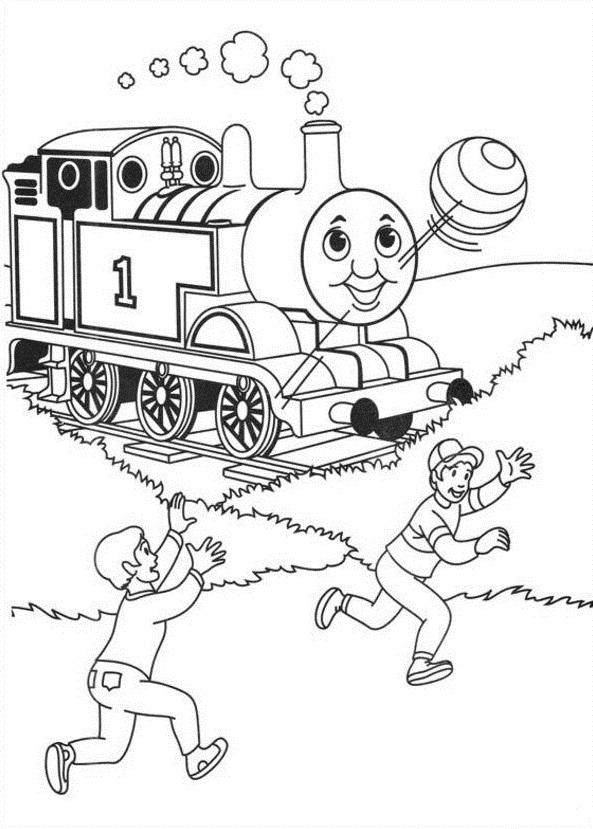 Simple Thomas The Train Coloring Pages. coloring pages thomas and ...