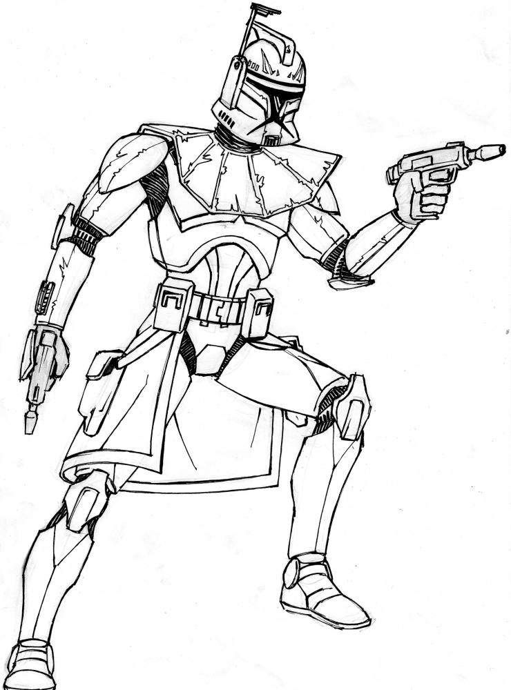 Как нарисовать клона из звездных войн карандашом